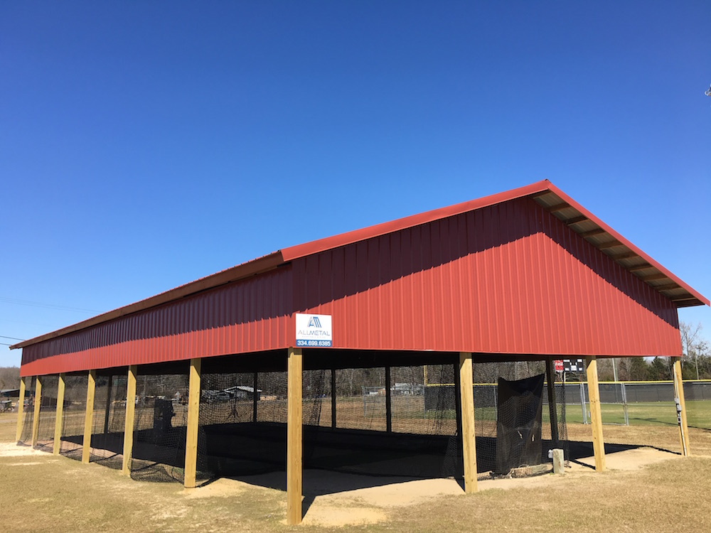 Pole barns by all metal building systems for Metal building barn